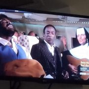 Watching our old friend Norman Alexander, one of the Jive Brothers in Airplane! on the hospital TV