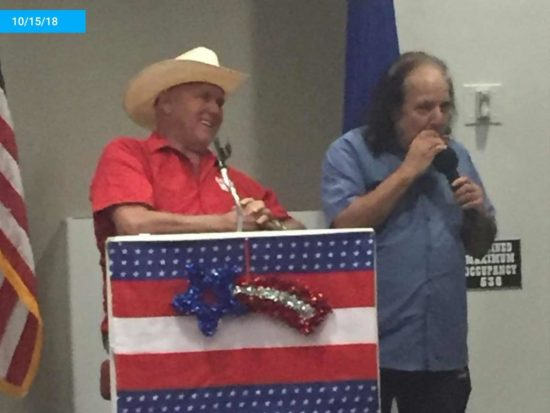 Dennis Hof celebrates his birthday and winning the Republican nomination for Nevada State Senator with Ron Jeremy the night before he died.