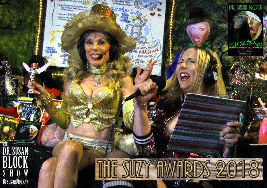 In the last Dr. Susan Block Show of 2018, Dr. Suzy & Blossom announce the SUZY Awards! Photo: Onyx Devall