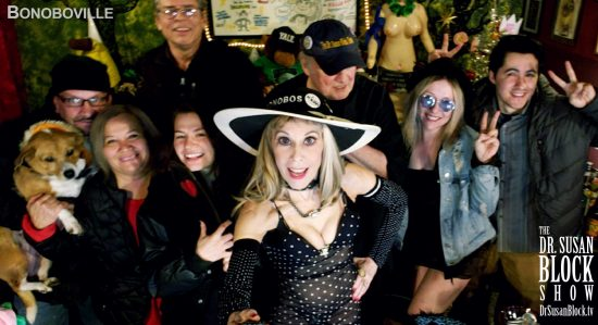 With Betsey, Miguel, Ana, Mar, Onyx, Max, Blossom & Abe. Photo: Selfie