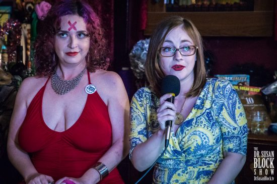 Spider Star Rhiannon Aarons and Writer Dana Hammer. Photo: Jux Lii