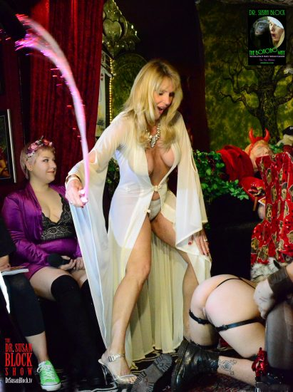 Goddess Phoenix in action with Her Fiber-Optic Whip. Photo: 2G Photography