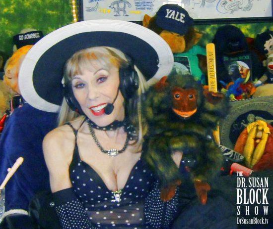 Getting ready for World Bonobo Day with Betty Bonobo. Photo: Onyx Devall