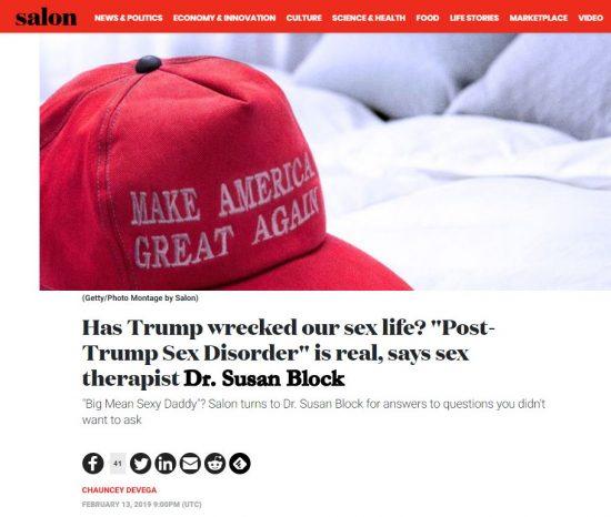 Post-Trump Sex Disorder