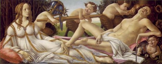 FemDom Venus totally dominates Mars in a Bonobo Way in this famous Botticelli painting.