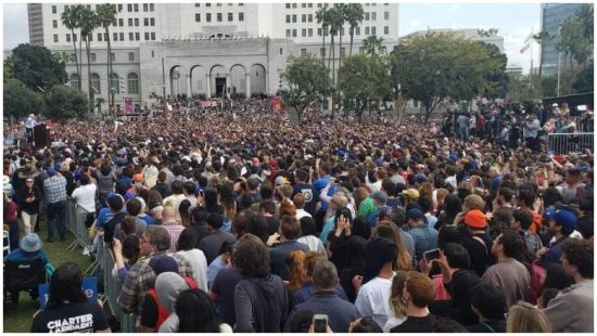 LA feels the Bern! Bernie gets the biggest crowds of any Democratic candidate, but the least MSM press. Wonder Why?
