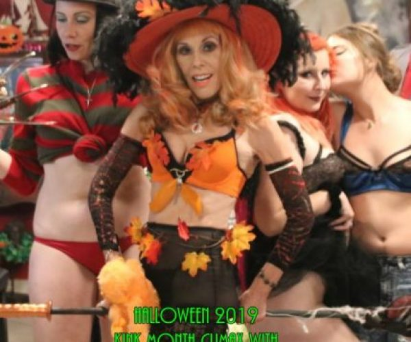Halloween 2019 KiNK Month Climax & Trumpkin Impeachment Party with GasMaskGirl