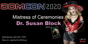 Dr. Susan Block named Mistress of Ceremonies for DOMCON 2020 Where She will Deliver the Bonobo Way