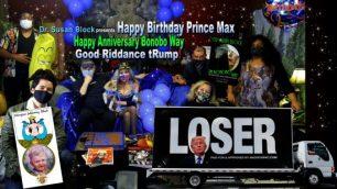 Happy Birthday Prince Max! Happy Anniversary Bonobo Way! Good Riddance tRump!